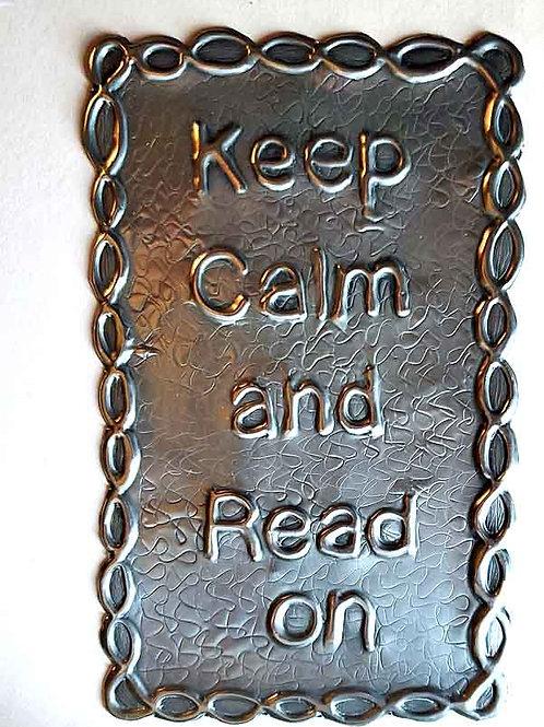タブレットケース・インテリア用ピューターエンボッシング・Keep Calm and