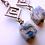 Thumbnail: ヒマラヤの空色K2ブルーキューブピアス