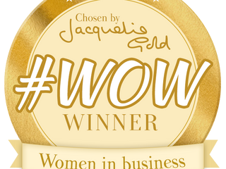 Warminster Entrepreneur received #WOW Award from Jacqueline Gold CBE