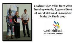Olive Training Student Helen Miles comes First in the Regional Heat of World Skills 2017