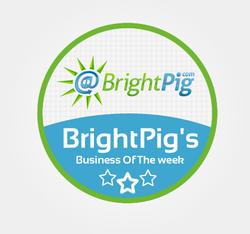 BrightPigs Business Of The Week Badge
