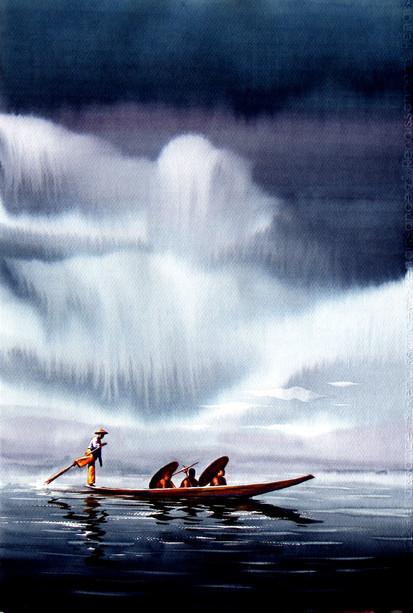 Soe Lin Aung - Traveling Under Rain Clouds 10