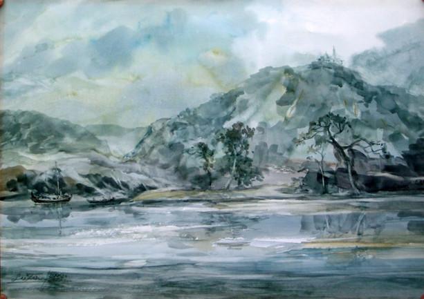 Lu Tin - Pagoda on Mountain Bank