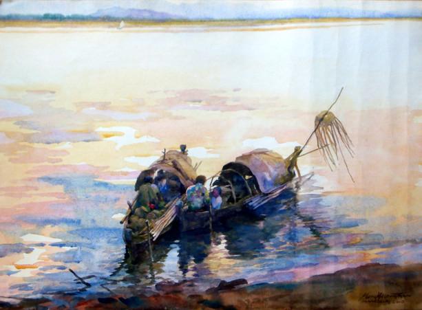 Khin Mg Than - Two Boats