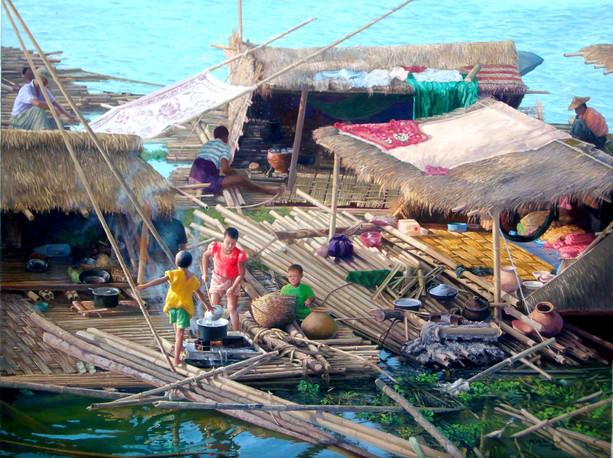Hla Tun - Bamboo Raft
