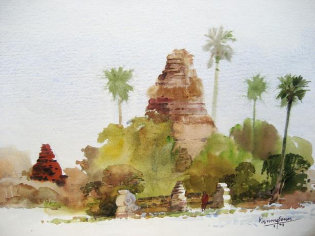 Khin Maung San - Old Pagoda