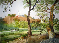 Khin Maung San - Pagoda Hill