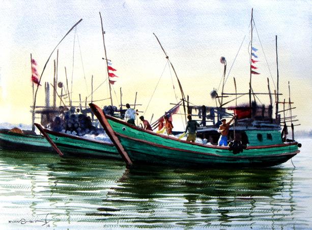 Kyaw Shein - Fishing Boats