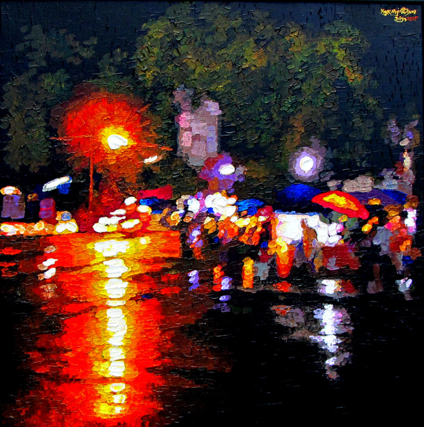 Kyee Myint Saw - Night in Rain 2015
