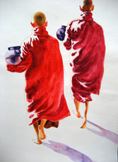 P. S M. Kyaw - Two Monks