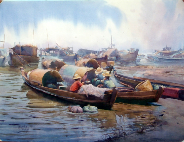 Zaw Maung - Boat Jetty