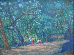 U Ba Win - Villagers in Forest