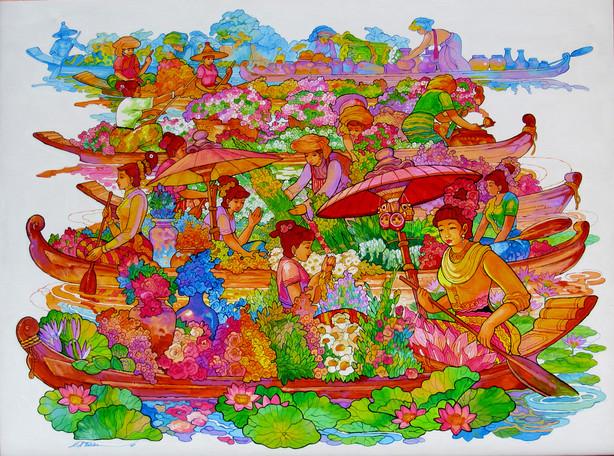 Kyi Thein - Floating Flower Sellers