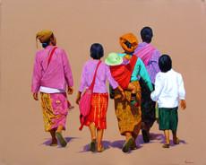 Phoe San - Family Returning Home
