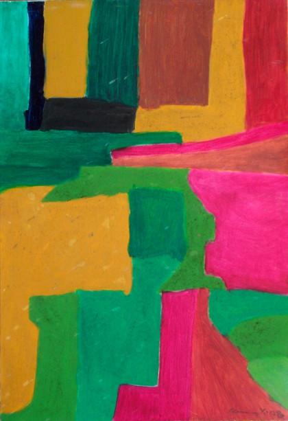 Khin Maung Yin - Abstract Red/Yellow
