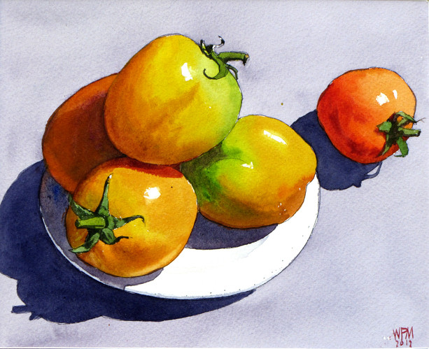 Win Pe Myint - Still Life of Tomatoes