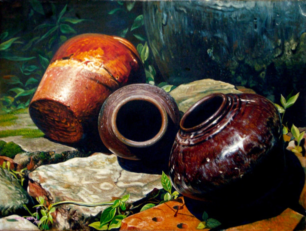 Aung Hein - Glazed Pots