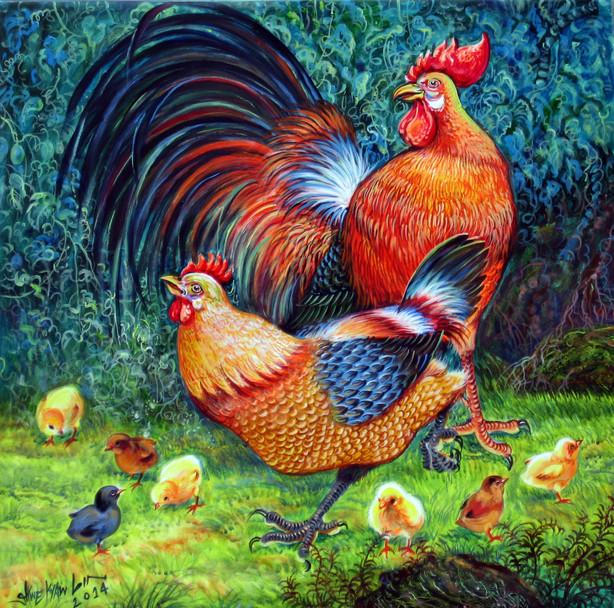 Shwe Kyaw Lin - Chicken Family