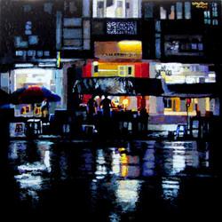 Kyee Myint Saw - Yangon Night in the Rain