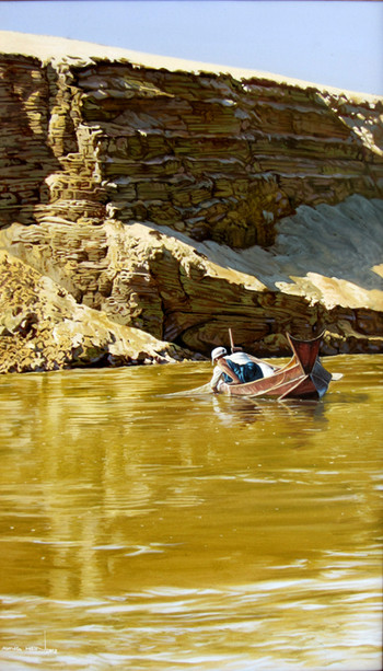 Aung Hein - Fisherman on River