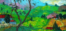 Pyone Kyi - Village at Mountain Foot