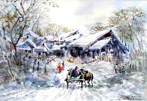 Nay San - Entrance of Village