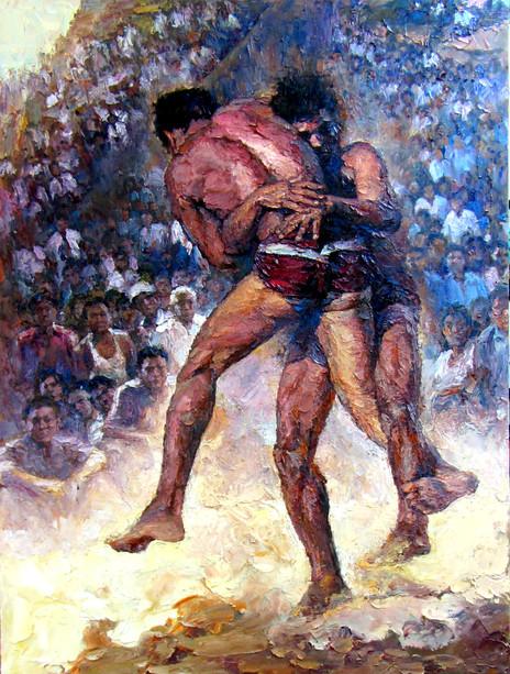 Mg Kyaw Nyunt - Rakhine Wrestling