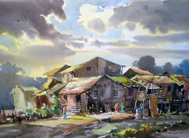 Ramree Tin Shwe - Village House