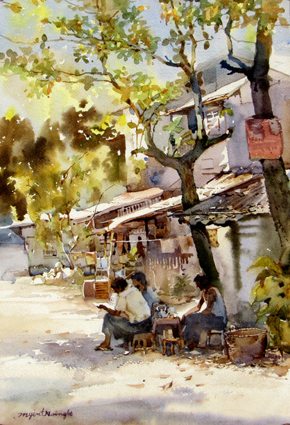 Myint Naing - Road Side Tea Shop