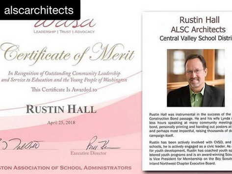 ALSC Principal Rustin Hall recognized as the recipient of the 2018 Community Leaders Award