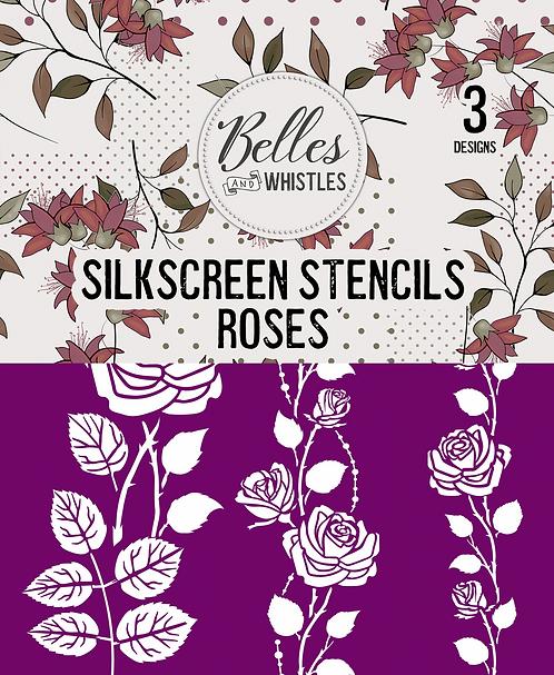 Roses Silkscreen Stencil