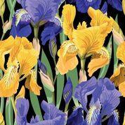 Floral On Black Decopauge Paper