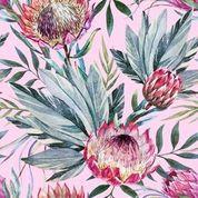Tropical On Pink Decopauge Paper