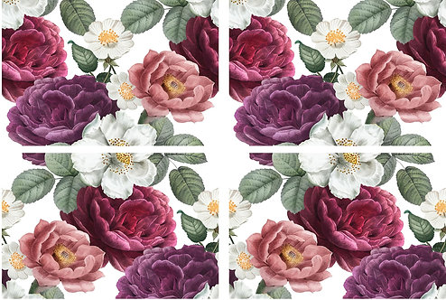 Floral Romance Transfer