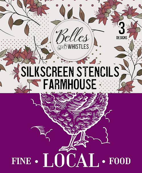 Farmhouse Silkscreen Stencil