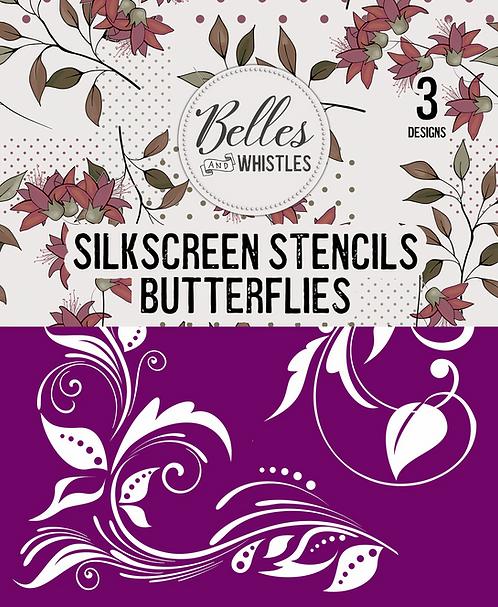Butterflies Silkscreen Stencil