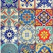 Colorful Tiles Decopauge Paper