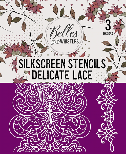 Delicate Lace Silk Screen Stencil