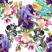 Colorful Floral Decopauge Paper