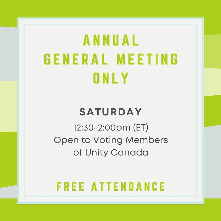 Unity Canada Annual General Meeting