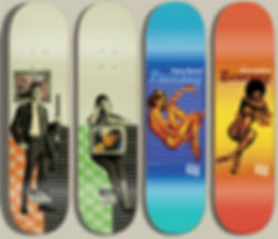 skateboard art, politic skateboards, graphic design, politic skateboards, action sports, designer, Freelance Design Services Graphic Design, Illustration, Layout, Apparel Created by Chip