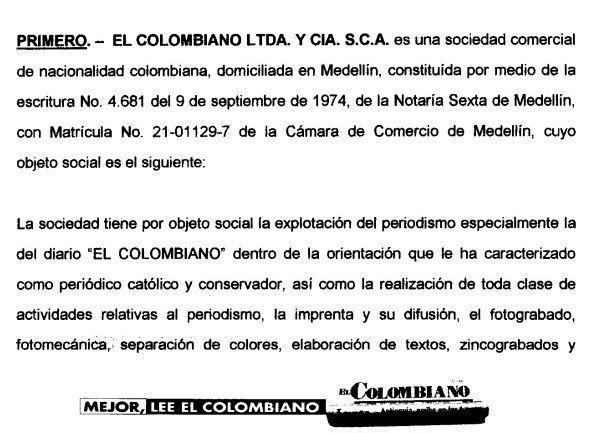 """Diario """"El Colombiano"""""""