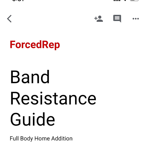 Band Workout - Home Edition