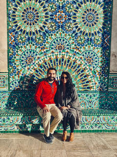 Me with my husband, Anuj, in Morocco!