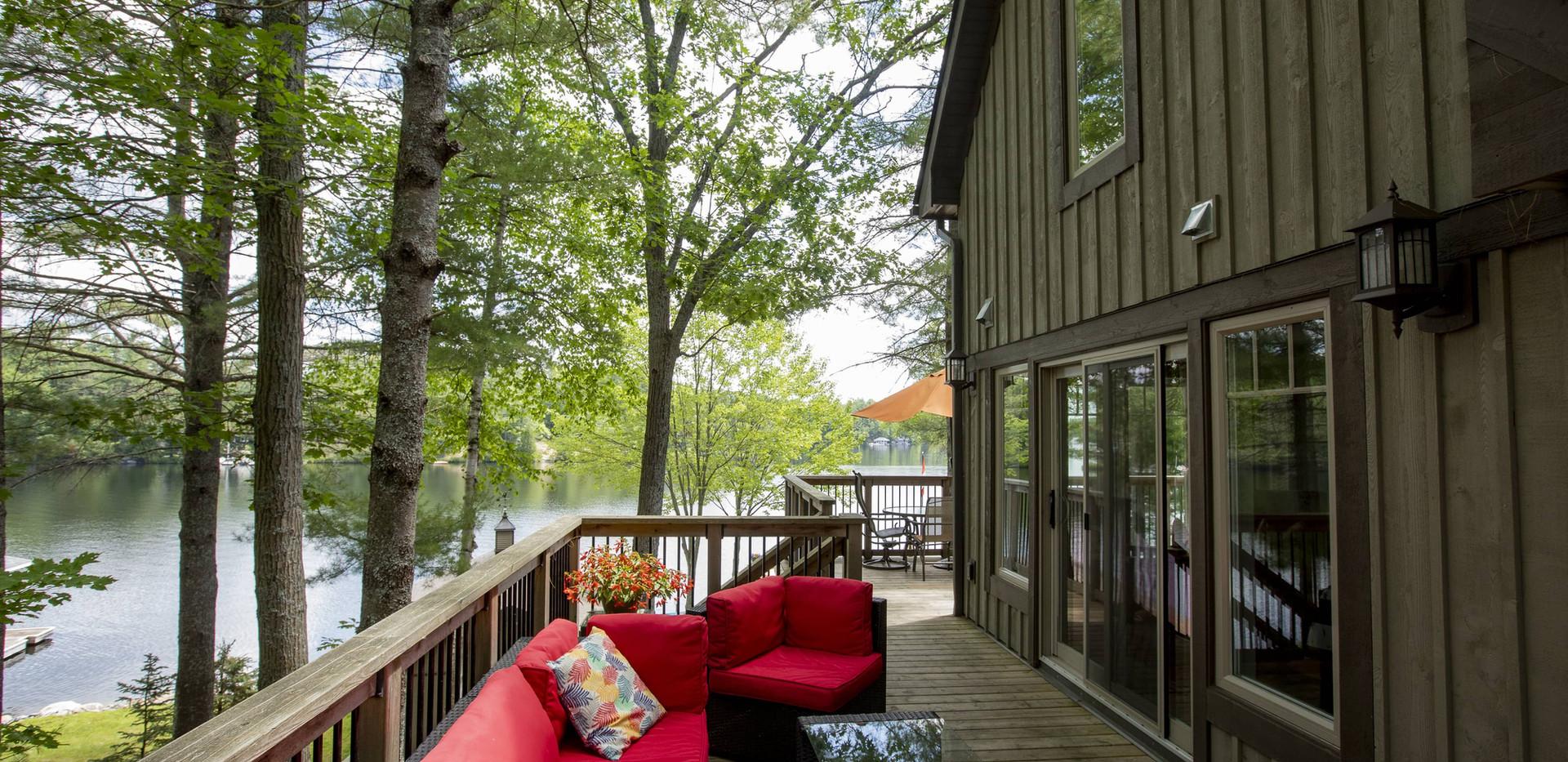 Wraparound Cottage Deck Edenlane Muskoka