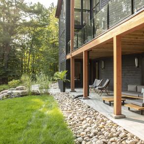 Modern Cottage Exterior Walkout