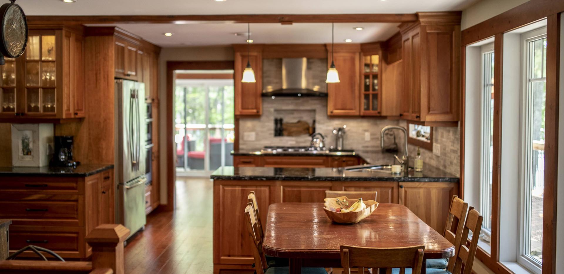 Wood Eat-in Kitchen Custom Cottage