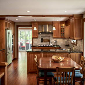 Traditional Wood Cottage Kitchen in Modern Build