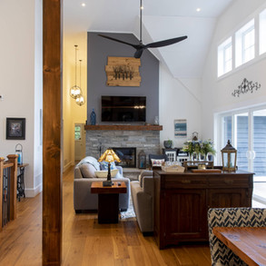 Vaulted Ceilings in Modern Traditional Cottage