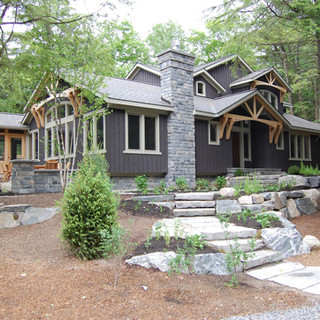 Contemporary Grey Cottage with Landscaping